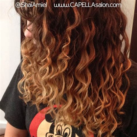 curly hairstyles ombre what s the difference between ombre and balayage hair color