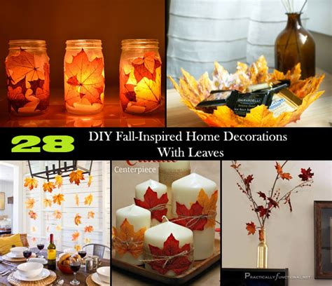 28 diy fall inspired home decorations with leaves amazing diy interior home design