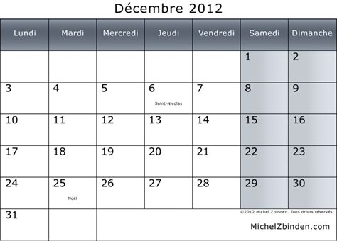 Calendrier Fin Du Monde Calendrier Decembre 2012