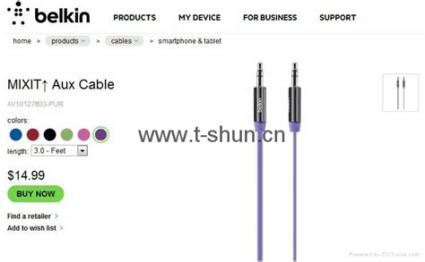 Belkin Mixit Ori Aux Cable For Mobile Device tsb3 01 belkin mixit flat audio aux cable china trading