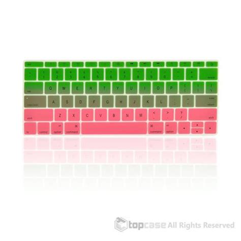 """apple macbook 12"""" green & pink faded ombre keyboard cover"""