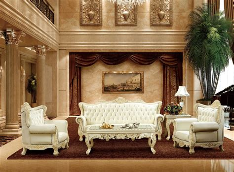 Antique Furniture Living Room Aliexpress Buy Luxury Antique Style White And Genuine Leather Sofa Set For