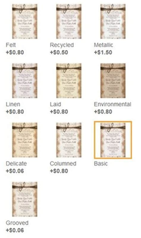 Difference in Invitation Paper Types on Zazzle   Rustic