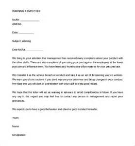 Explanation Letter For Safety 33 Hr Warning Letters Free Sle Exle Format Free Premium Templates