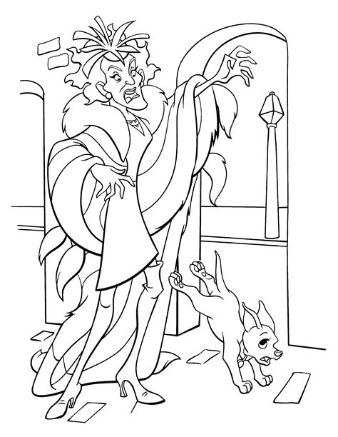 cruella de vil coloring pages 187 102 dalmatians coloring