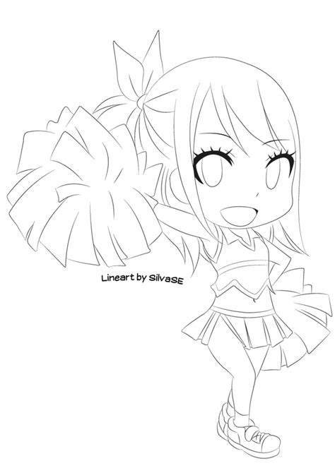 fairy tail coloring pages chibi chibi lucy lineart by silvase on deviantart