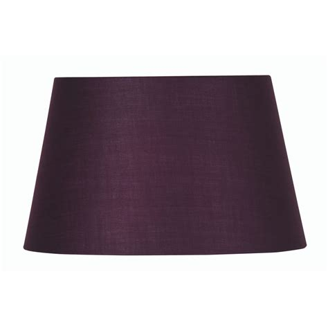 10 Inch Drum L Shade by Plum Cotton Drum L Shade 10 Inch S901 10pl Oaks Lighting