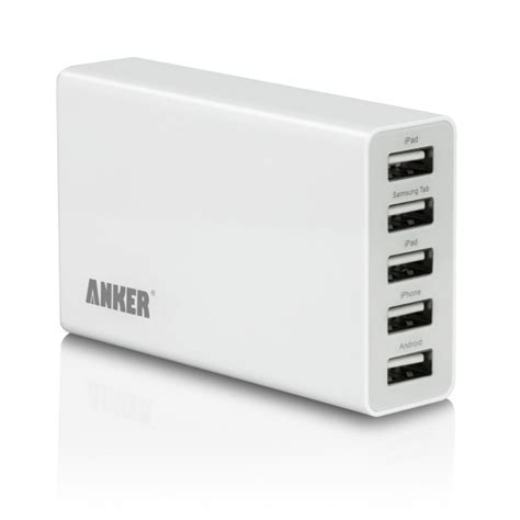 anker usb charger perspective anker e150 5v 5a 5 port usb wall