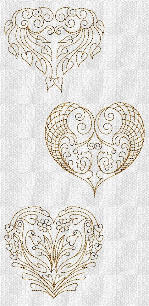 filigree heart tattoo designs instant filigree valentines hearts redwork