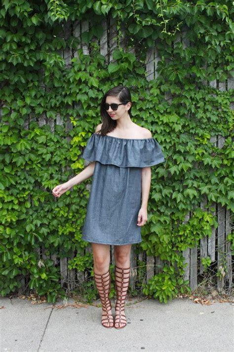dress pattern off the shoulder tutorial how to make a ruffle off the shoulder dress