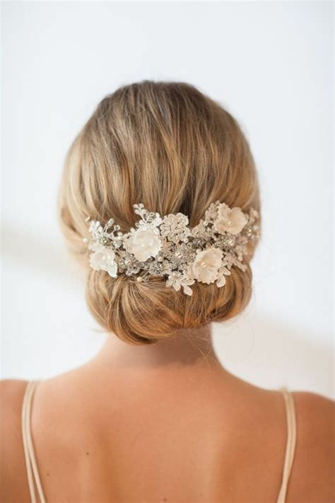 elegant wedding hair style wedding accessories