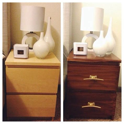 ikea malm hacks ikea hack diy ikea malm nightstand with gel stain and