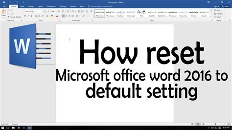 microsoft word default template how to reset user options and registry settings in excel