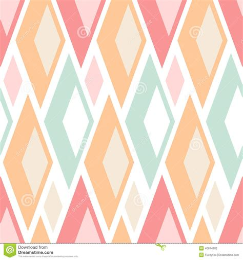 Chevron Wall Stickers abstract seamless pastel triangles pattern on white stock