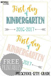 day of school sign template day of school signs free printables pre school
