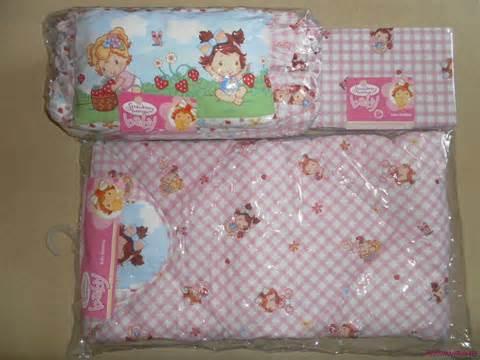 strawberry shortcake flowers baby bedding set nip licensed