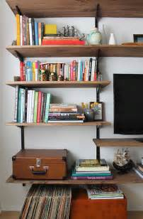 Makeshift Bookcase Diy Mounted Shelving Almost Makes Perfect