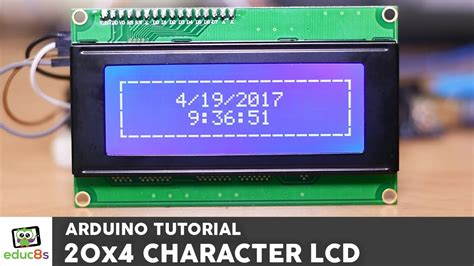 arduino uno i2c lcd tutorial arduino tutorial 20x4 i2c character lcd display with a