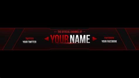 youtube channel art banner maker best template idea