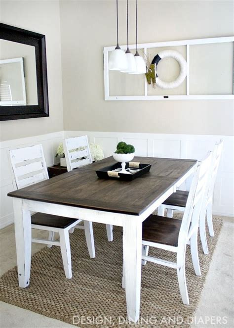 home made kitchen table best 25 dining table makeover ideas on