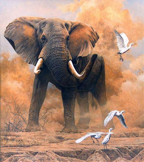 painting elephant elephant johan hoekstra wildlife collection page 3