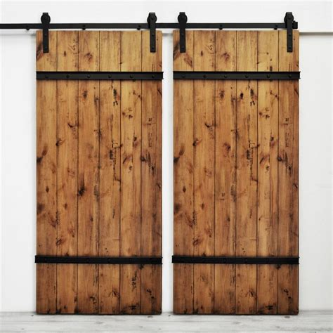 Shop Dogberry Collections Drawbridge Set Of 2 Stained Lowes Barn Door