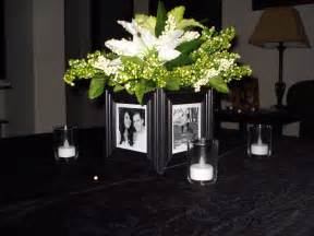 photo centerpieces inspirations of wedded bliss centrepieces