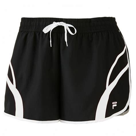 Fila Womens Black White Wicking Workout Athletic Running