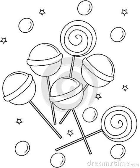 Lollipops Coloring Page Stock Illustration   Image: 53848631