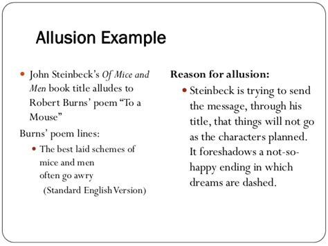 exles allusion poems images