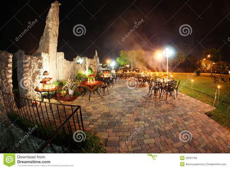 outdoor wedding reception stock photo image  castle