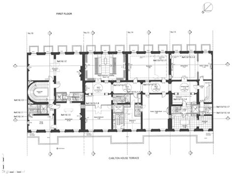 home layout plans floor plans to 13 16 carlton house terrace in london