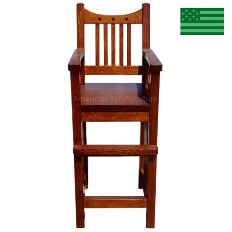 Wooden Youth Chair by Amish Royal Mission Youth Chair Solid Wood Handcrafted