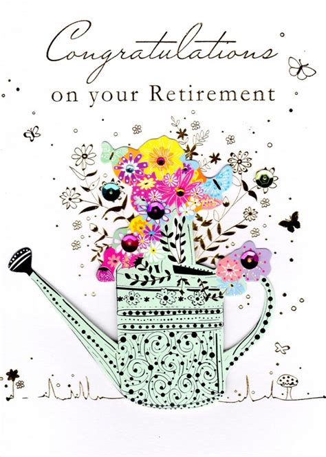 free printable retirement cards gold and white retirement card free
