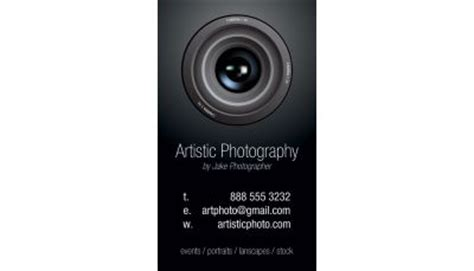 photography business card 004 custom printing request