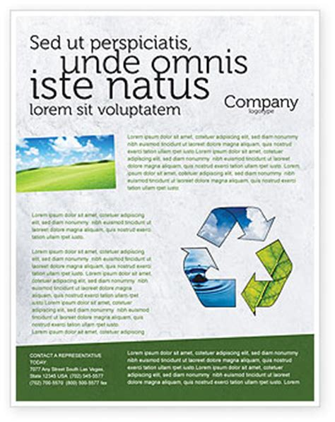 recycle flyer template background in microsoft word
