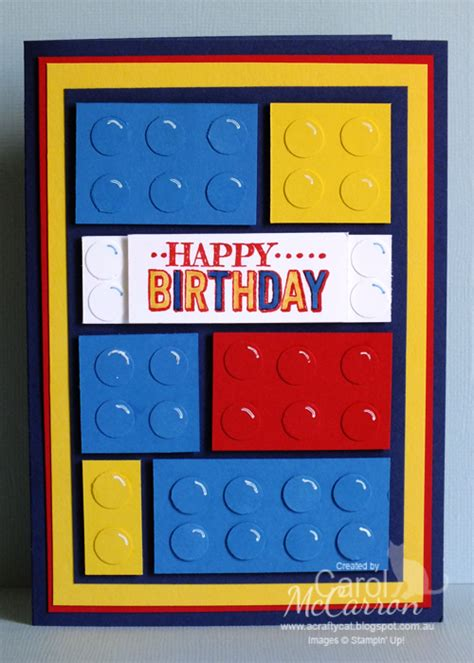 Lego Birthday Cards A Crafty Cat Boys Lego Birthday Card