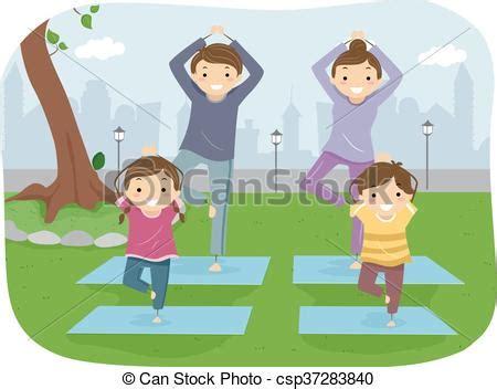 imagenes yoga en familia stickman al aire libre yoga familia juntos yoga