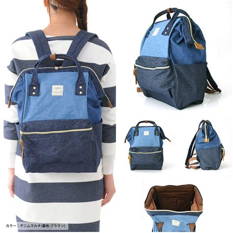 tas ransel anello denim cloth backpack cus rucksack