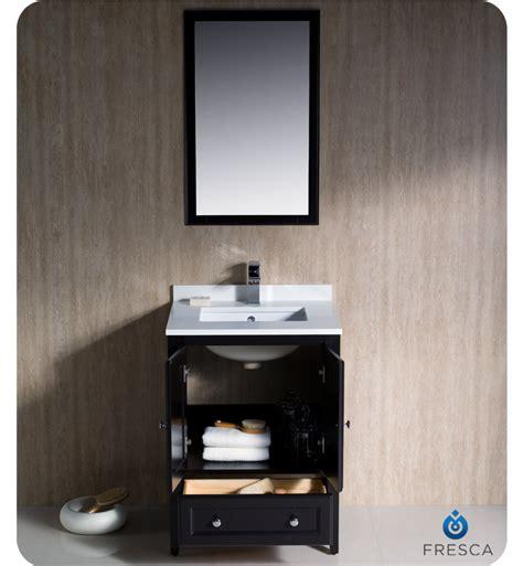 Bathroom Cabinet Espresso Finish Fresca Oxford 24 Quot Traditional Bathroom Vanity Espresso Finish