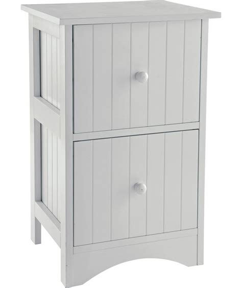 buy tongue and groove 2 drawer storage unit white at