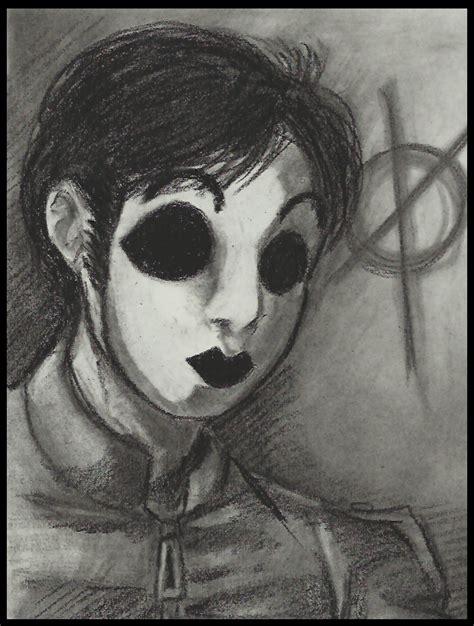 charcoal masky by cageyshick05 on deviantart