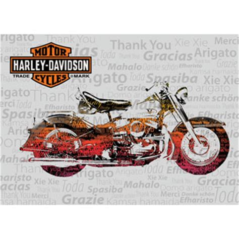 Where Can You Buy Harley Davidson Gift Cards - thank you cards harley davidson 174 ace branded products