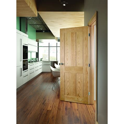 deanta eton oak veneer 4 panel shaker door