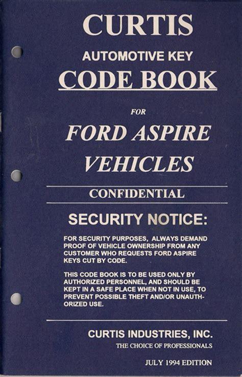 hawley lock supply curtis code books hawley lock supply curtis ford aspire 1994 code book new