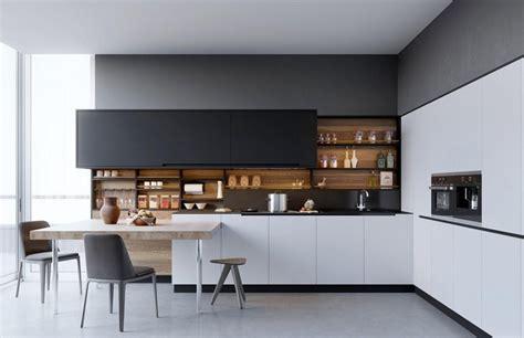 contemporary kitchen design ideas tips am 233 nagement cuisine blanche et bois 35 id 233 es cool
