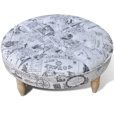 pattern ottoman stool footrest ottoman patterned round 81 cm diameter