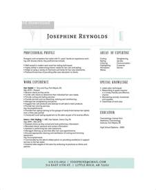 Hair Stylist Sle Resume by Hair Stylist Resume Template Resume Format Pdf