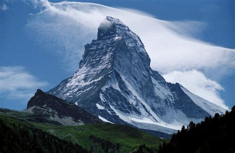 in this mountain file peak of the matterhorn seen from zermatt