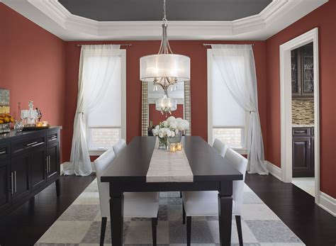 beautiful neutral grey dining room paint color decoration presents rustic brown wooden dining